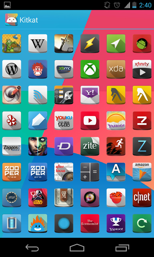 ShadeX (Apex Nova holo theme)- screenshot