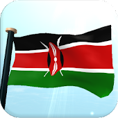 Kenya Flag 3D Free Wallpaper
