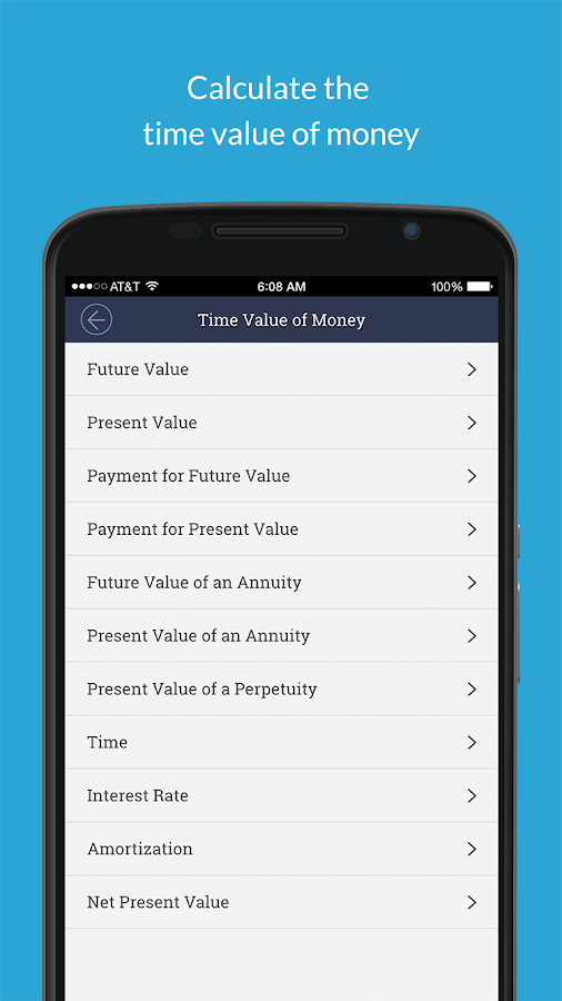 Valuation App- screenshot