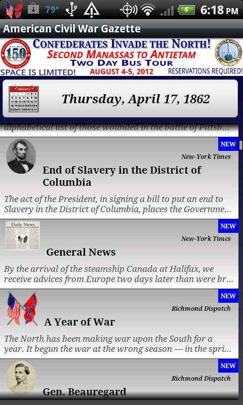 1861 Aug Am Civil War Gazette- screenshot