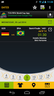 Football Schedule Brazil 2014- screenshot thumbnail