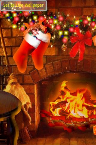 HD Christmas Santa Fire & Tree - screenshot