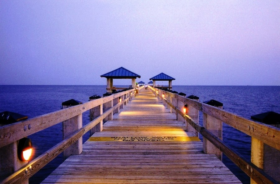 Biloxi, Mississippi by Paul Hopkins - Landscapes Waterscapes (  )
