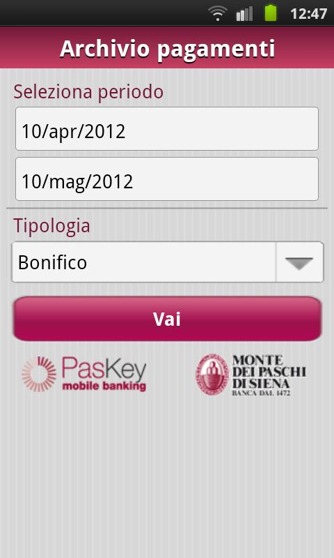 Banca MPS per Smartphone - screenshot