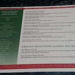 Huge GF menu