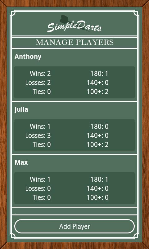 Simple Darts - Dart Scoring - screenshot