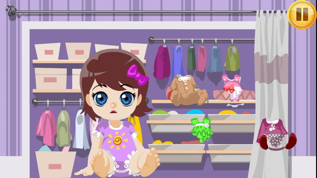 Baby Caring, virtual baby, baby sleep, baby game, care job, babysitting game