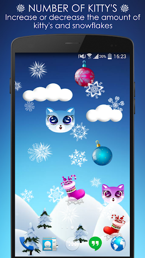 Ina Kitty Winter LiveWallpaper