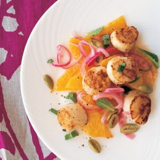 Seared Scallops with Orange and Red Onion Salad