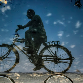 After Rain... by Nimit Nigam - People Street & Candids ( after, photos, d3000, nikon, photography, rain, bicycle, Bicycle, Sport, Transportation, Cycle, Bike, ResourceMagazine, Outdoors, Exercise, Two Wheels )