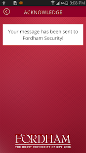 Fordham Safeapp- screenshot thumbnail