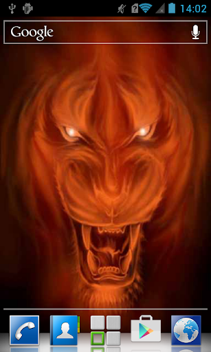 Fiery red tiger LWP