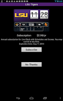 Screenshot of LSU Tigers Live Clock