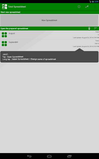 Total Spreadsheet 3.0 Windows u7528 5