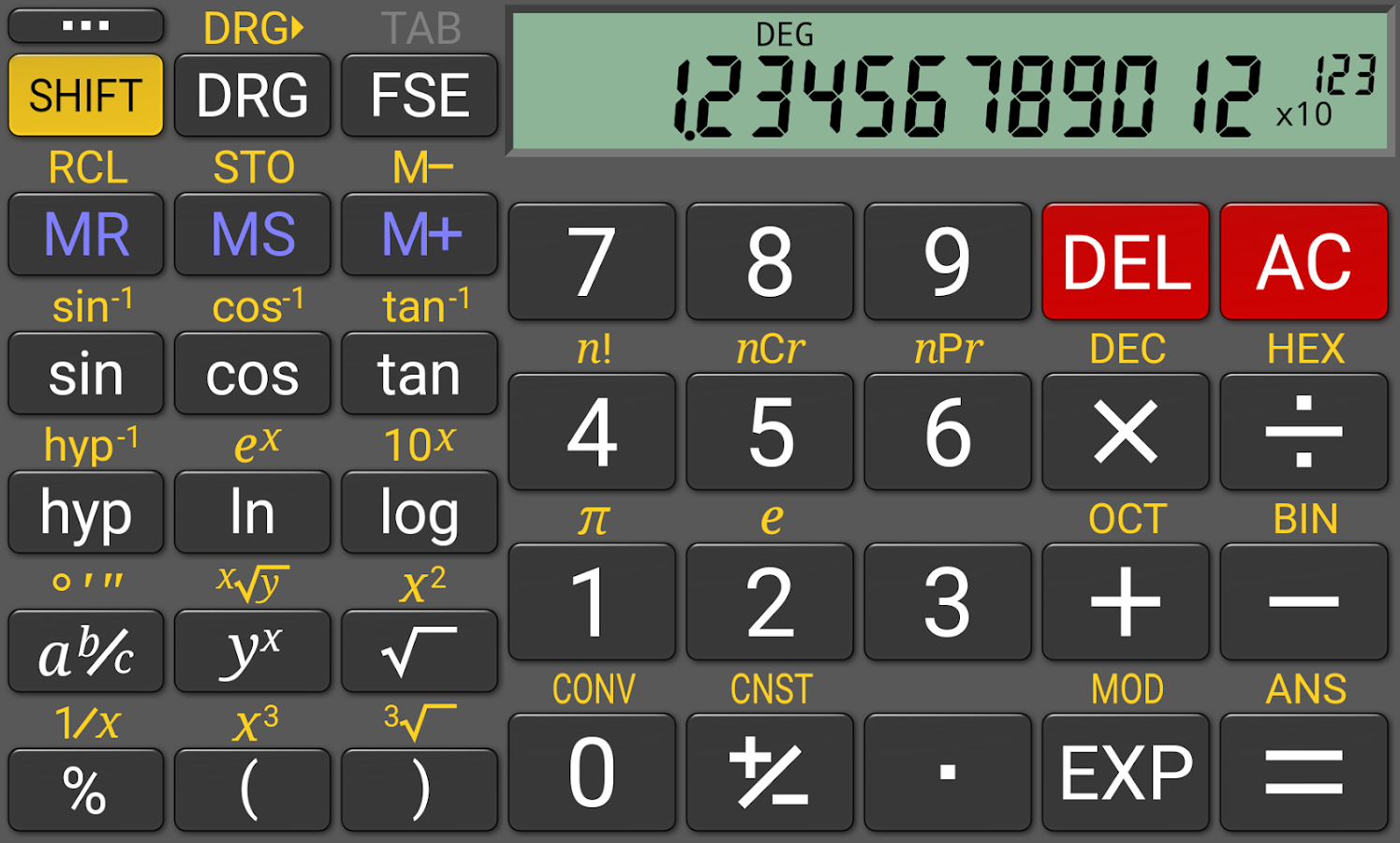 RealCalc Plus- screenshot