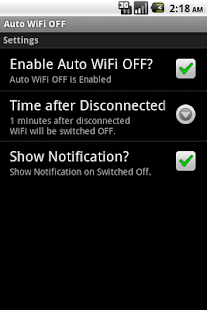 Auto WiFi OFF- screenshot thumbnail