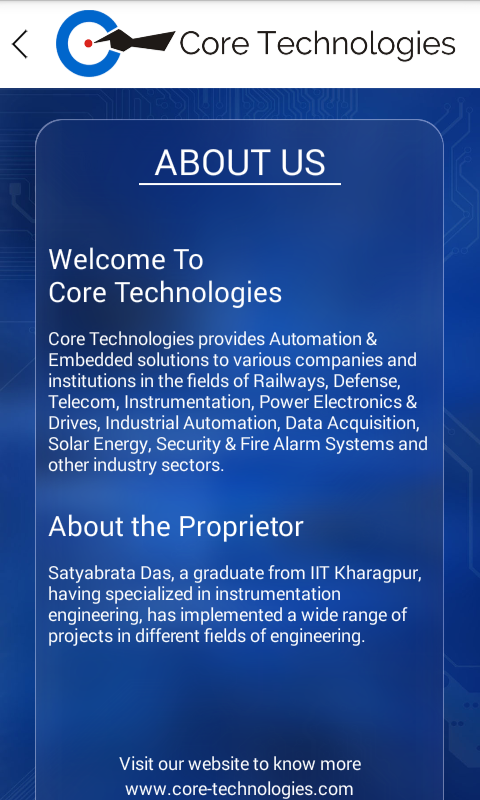 Core Technologies- screenshot