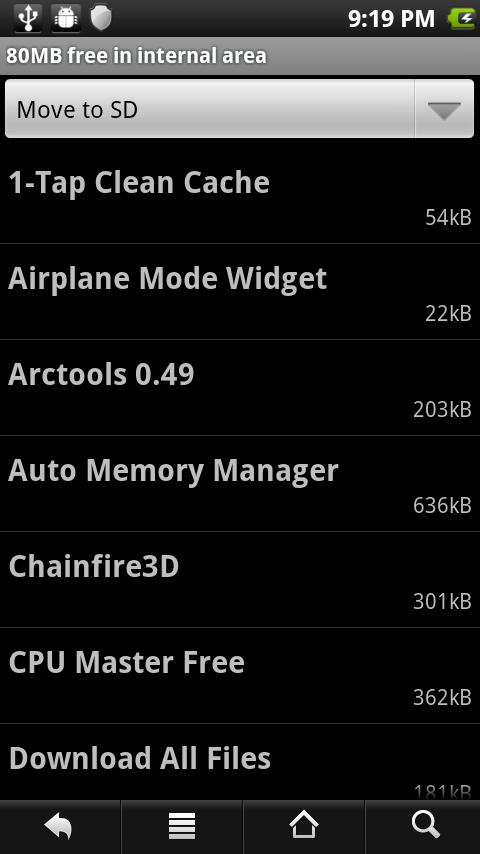 Force2SD lite [root] - screenshot