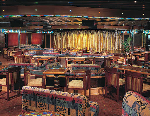 Carnival-Triumph-Club-Rio - The exotically themed Club Rio is located toward the rear of Carnival Sunrise.