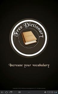 Free Dictionary- screenshot thumbnail