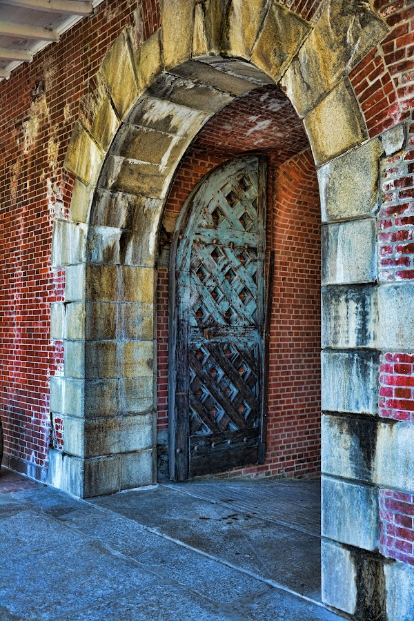 Fort Pulaski Door by Sandra Maldonado - Buildings & Architecture Architectural Detail ( fort pulaski, door, entryway )