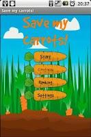 Screenshot of Save my carrots!