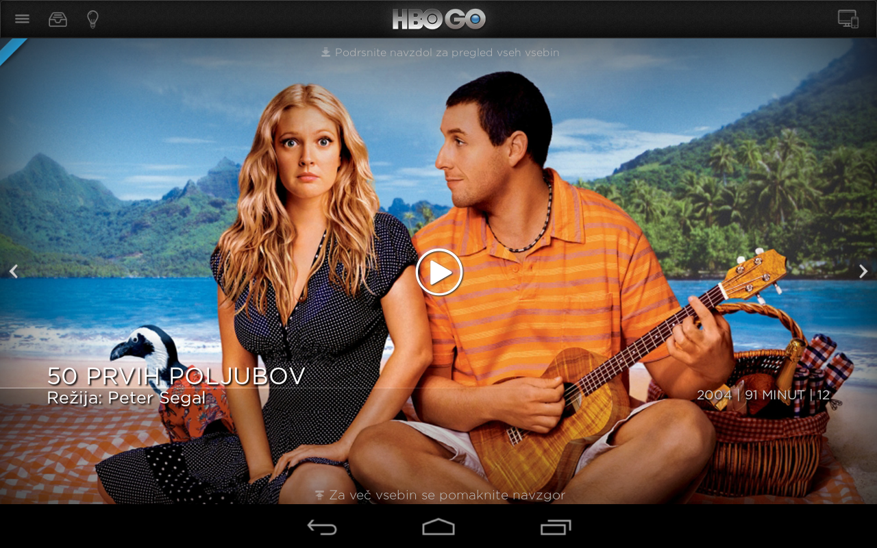 HBO GO Slovenia- screenshot