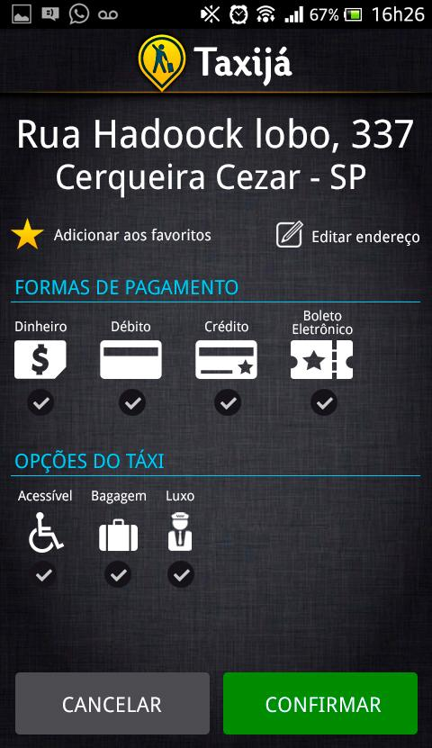 Taxija - Book a taxi - screenshot