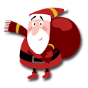 Funny Santas & Christmas Tree logo