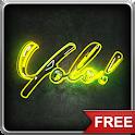 Neon #YOLO LWP icon