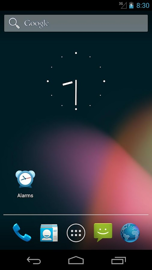 Alarms shortcut - screenshot