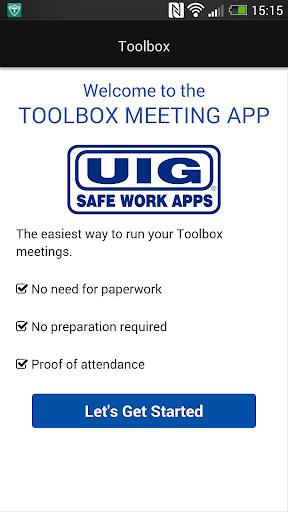 UIG Toolbox Meetings