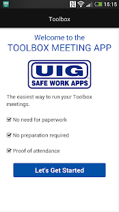 UIG Toolbox Meetings- screenshot thumbnail