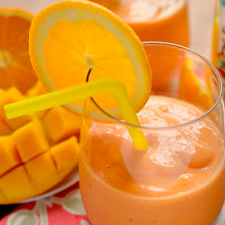 Tropical Pineapple, Mango & Orange Smoothie.