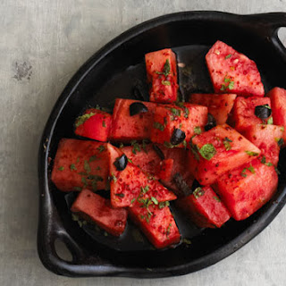 Watermelon Salad with Aleppo Pepper.