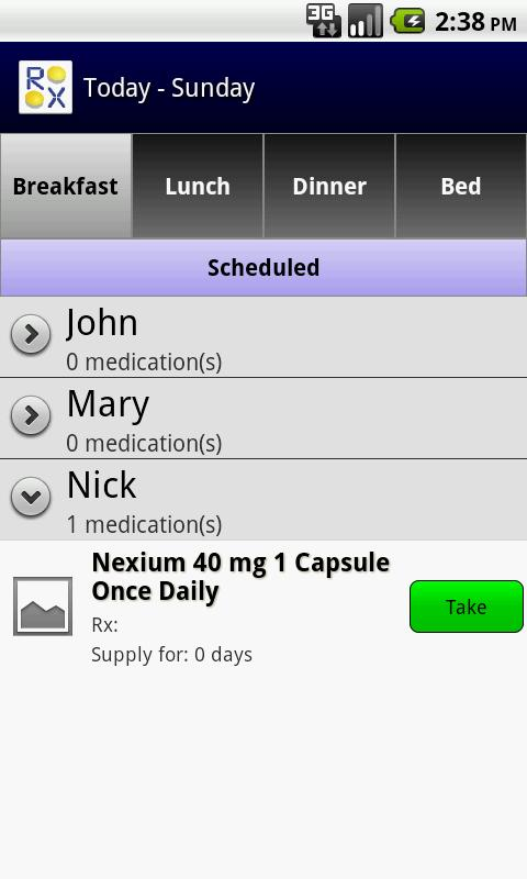 RX Pal Family Pill Minder Free- screenshot