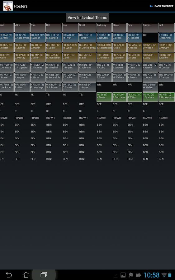 Fantasy Football Draft Magnate- screenshot
