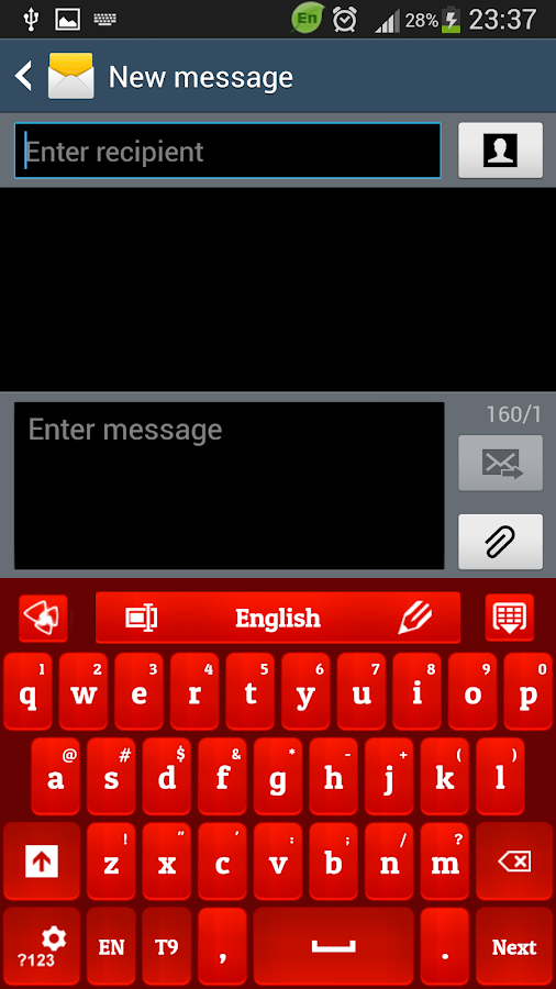 Screenshots of Red Rose Keyboard for iPhone