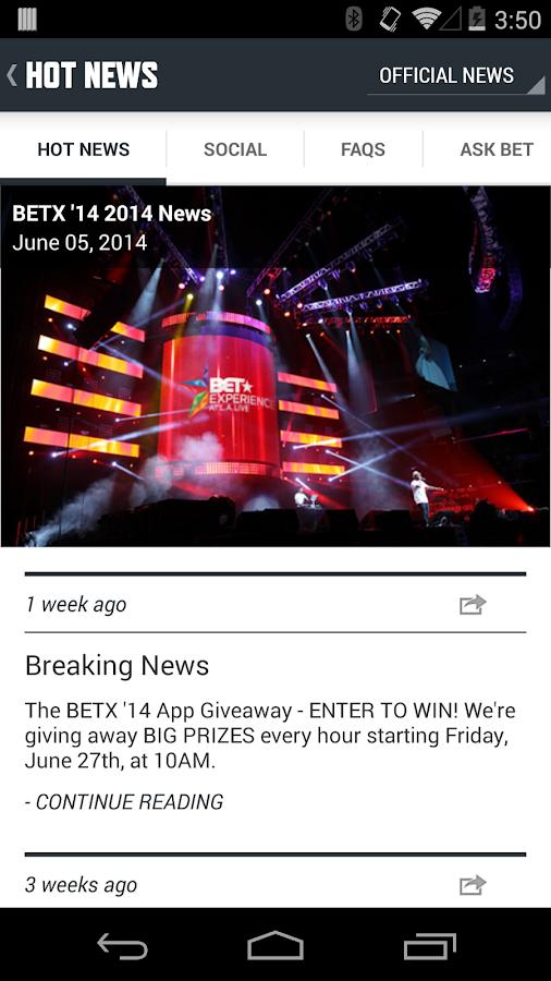 BET Experience '14 - screenshot