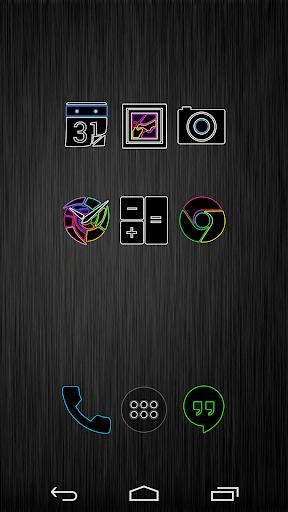 【免費個人化App】BrightLines Icon Pack-APP點子
