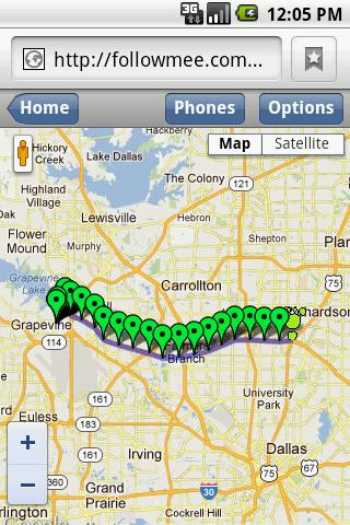 GPS Tracker By FollowMee Trial - screenshot