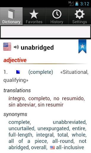 Unabridged Spanish Dictionary