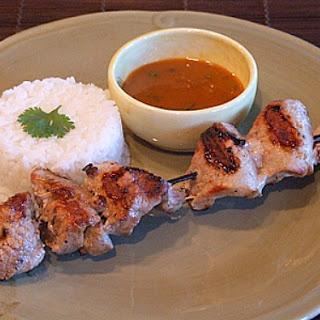 Coconut- Curry Pork Satay.