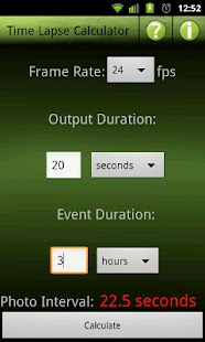 Time Lapse Calculator- screenshot thumbnail