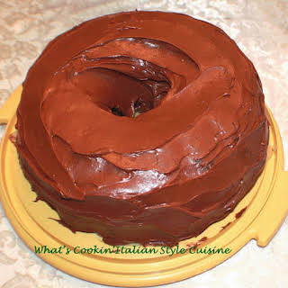 Chocolate Mayonnaise Cake Vintage.
