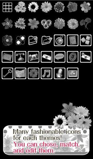 Flower Wallpaper Monochrome 1.2 Windows u7528 4