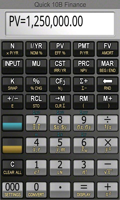Quick B Financial Calculator  Android Apps On Google Play