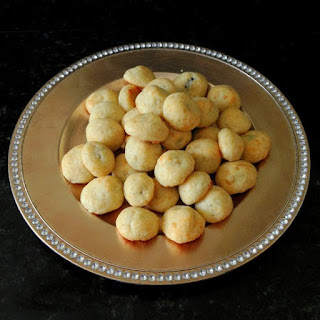 Black and White Olive Cheese Puffs.