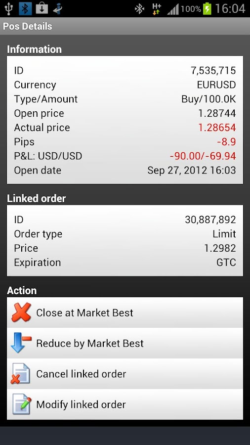 Mobile Trader - screenshot