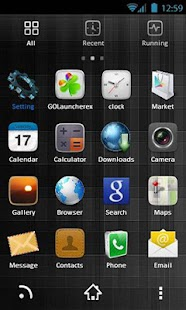 Dark Black Theme GoLauncher EX - screenshot thumbnail